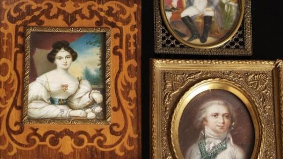Three copy portrait miniatures, 20th century